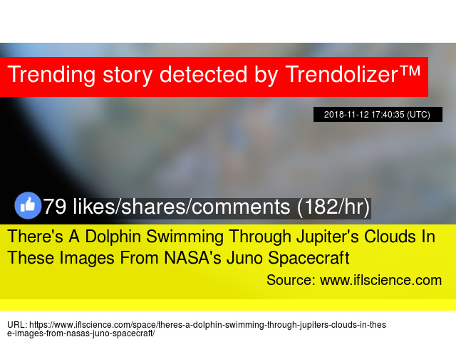 There's A Dolphin Swimming Through Jupiter's Clouds In These