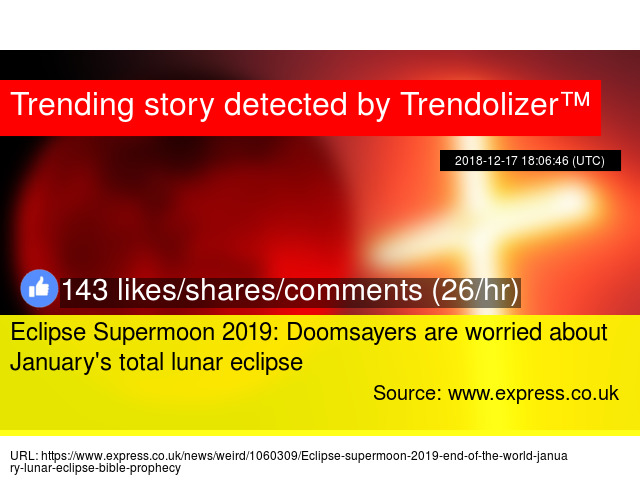 Eclipse Supermoon 2019 Doomsayers Are Worried About January S Total