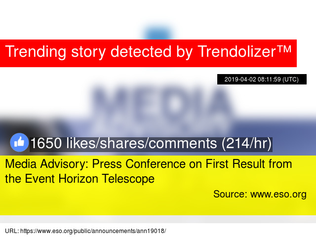 Media Advisory: Press Conference on First Result from the
