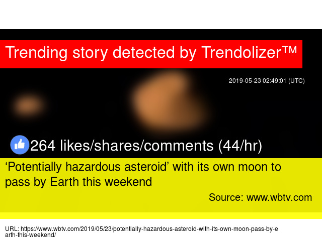 Potentially hazardous asteroid' with its own moon to pass by