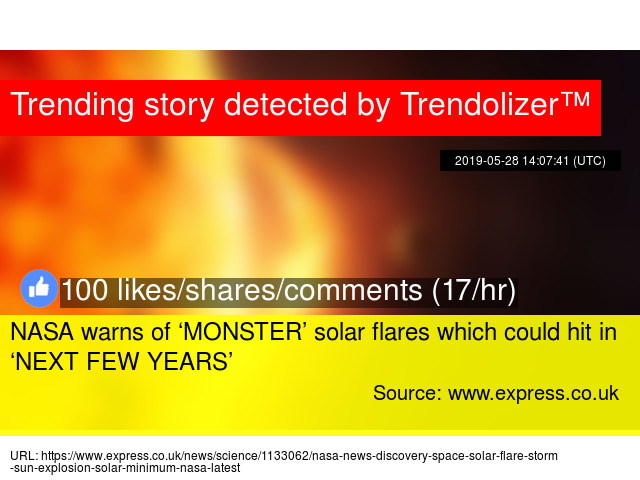 NASA warns of 'MONSTER' solar flares which could hit in