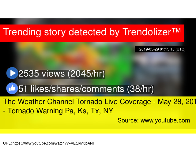 The Weather Channel Tornado Live Coverage - May 28, 2019