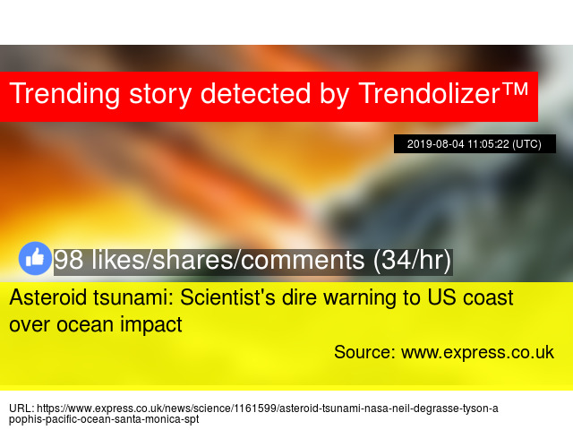 Asteroid tsunami: Scientist's dire warning to US coast over