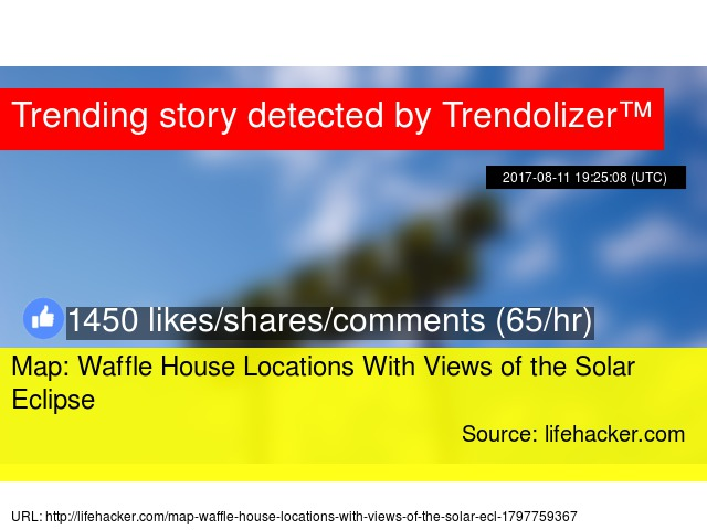 Map: Waffle House Locations With Views of the Solar Eclipse